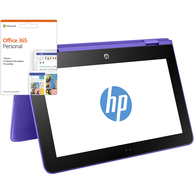 "HP Stream x360 11.6"" 2-in-1 Laptop Includes Office 365 Personal 1-year subscription with 1TB Cloud Storage - Violet Purple - Y5V16EA#ABU - 1"