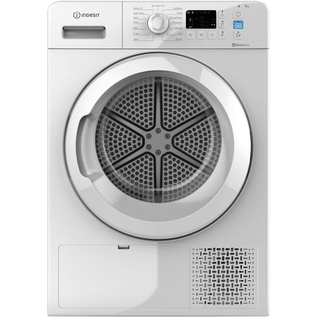 Indesit YTM1071RUK 7Kg Heat Pump Tumble Dryer - White - A+ Rated - YTM1071RUK_WH - 1
