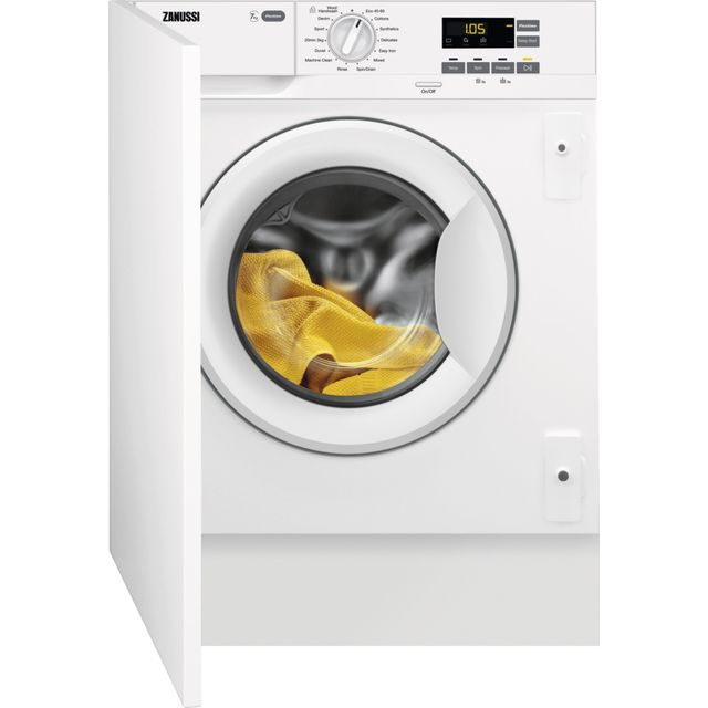 Zanussi Z714W43BI Integrated 7Kg Washing Machine with 1400 rpm - White - A+++ Rated