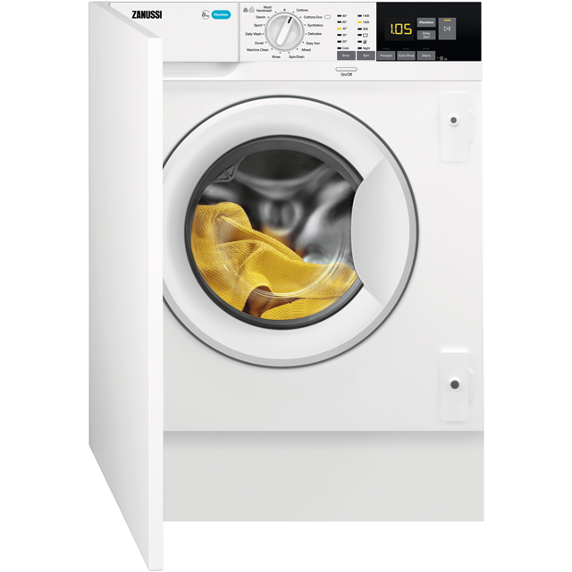 Zanussi Z814W85BI Integrated 8Kg Washing Machine with 1400 rpm - A+++ Rated