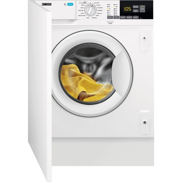 Zanussi Z814W85BI Integrated 8Kg Washing Machine with 1400 rpm - White - A+++ Rated