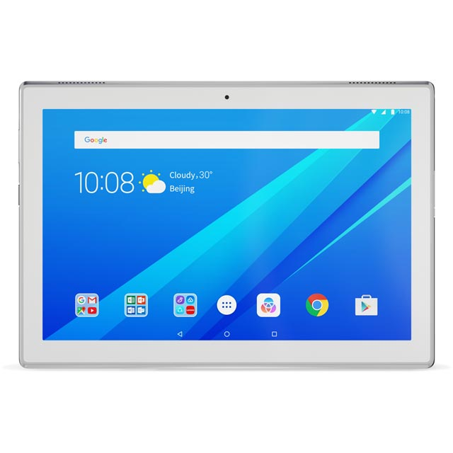"Lenovo Tab4 10.1"" 16GB Wifi Tablet - White"
