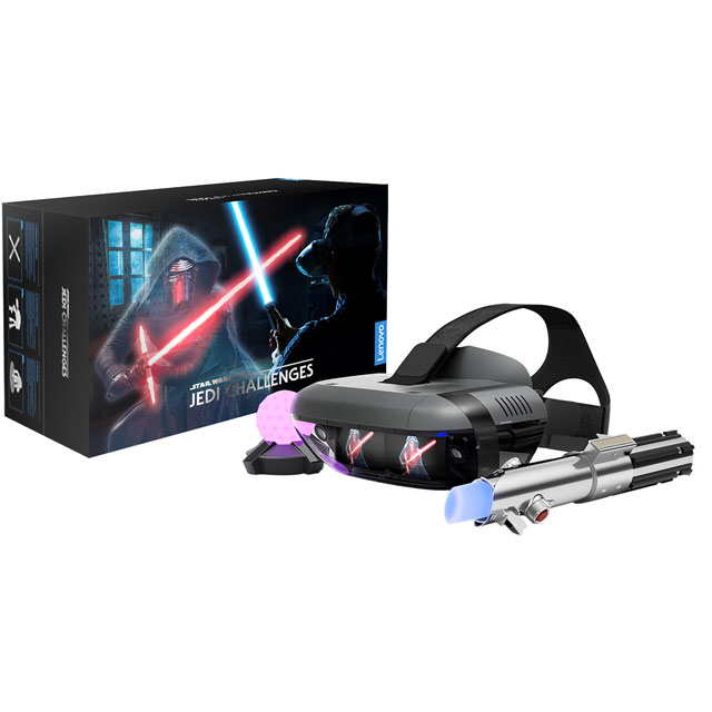 Lenovo Mirage AR Headset - Star Wars: Jedi Challenges with Lightsaber Controller & Tracking Beacon - Black - ZA390011GB - 1
