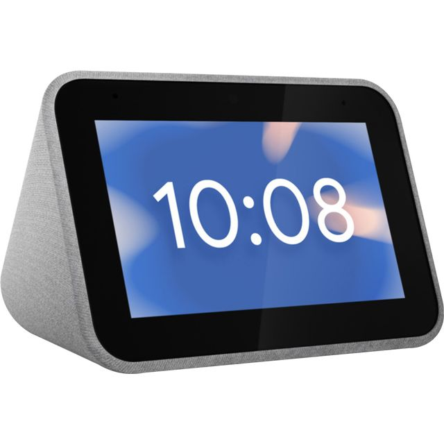 "Lenovo Smart Clock with Google Assistant - 4"" Screen - Grey"