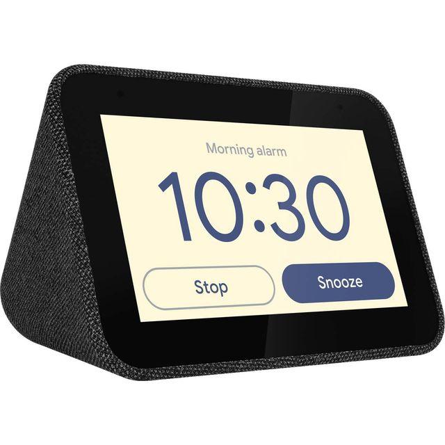 "Lenovo Smart Clock with Google Assistant - 4"" Screen - Black"