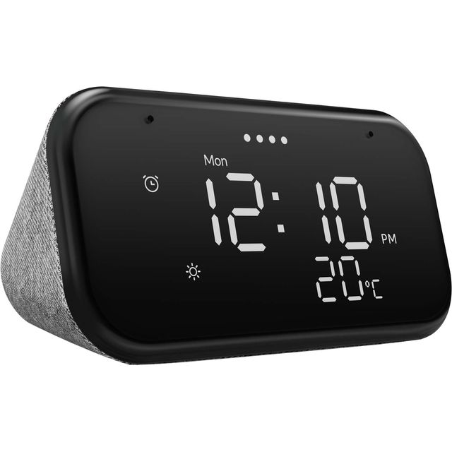 "Lenovo Smart Clock Essential with Google Assistant - 3.8"" Screen - Black"