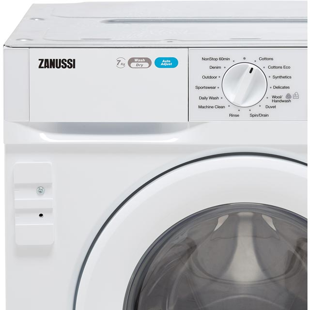 Zanussi Z716WT83BI Built In 7Kg / 4Kg Washer Dryer - White - Z716WT83BI_WH - 3