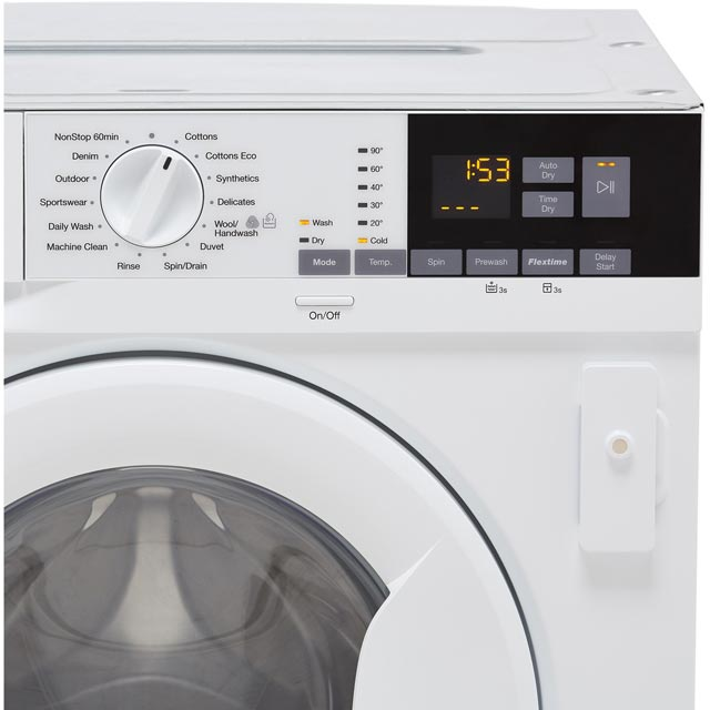 Zanussi Z716WT83BI Built In 7Kg / 4Kg Washer Dryer - White - Z716WT83BI_WH - 4