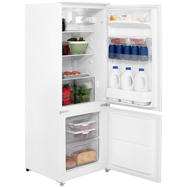 zanussi zbb24431sa integrated fridge freezer best price. Black Bedroom Furniture Sets. Home Design Ideas