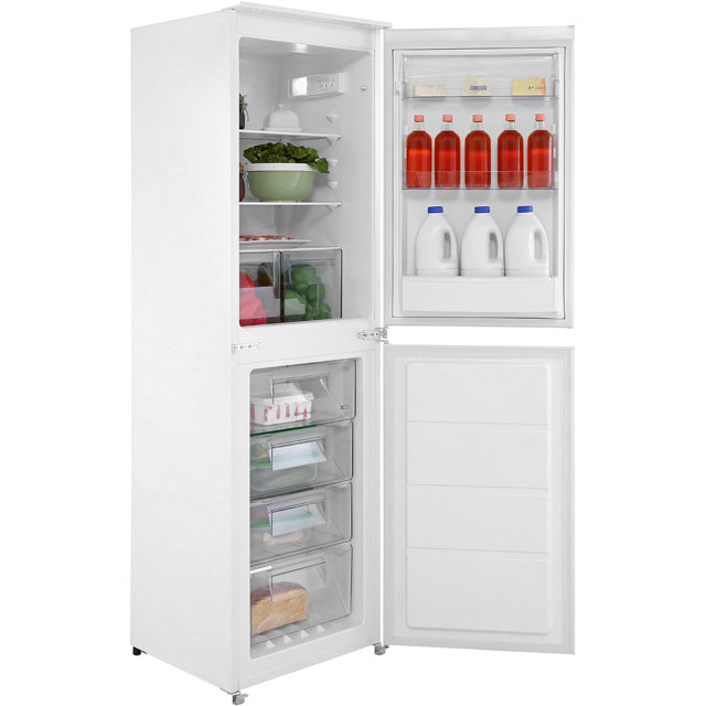 Zanussi ZBB27640SV Integrated 50/50 Frost Free Fridge Freezer with Sliding Door Fixing Kit - White - A+ Rated Best Price, Cheapest Prices