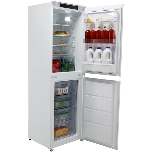 Zanussi ZBB27650SV Built In Fridge Freezer - White - ZBB27650SV_WH - 1