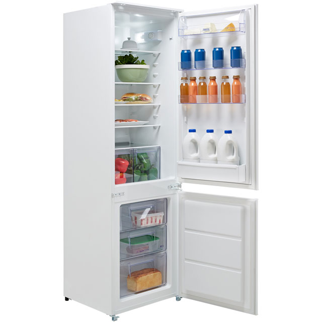 Zanussi ZBB28441SV Integrated 70/30 Fridge Freezer with Sliding Door Fixing Kit - White - A+ Rated Best Price, Cheapest Prices
