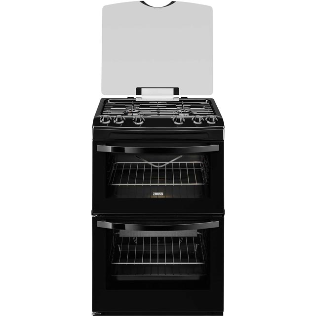 Zanussi Avanti ZCG63TC0BA Gas Cooker with Full Width Electric Grill - Black - A Rated