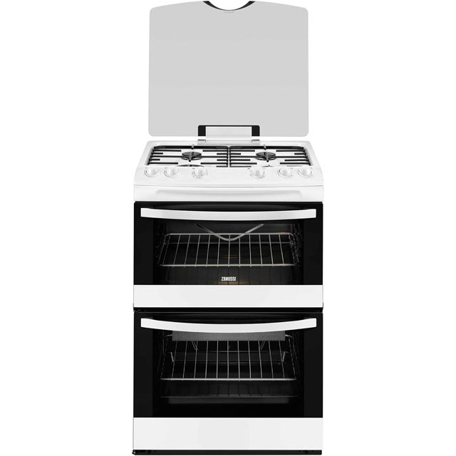 Zanussi Avanti ZCG63TC0WA Gas Cooker with Full Width Electric Grill - White - A Rated