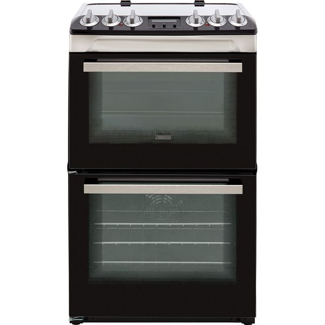 Zanussi ZCV46250XA 55cm Electric Cooker with Ceramic Hob - Stainless Steel - A/A Rated Best Price, Cheapest Prices