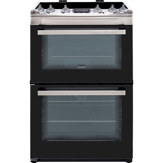 Zanussi ZCV66250XA 60cm Electric Cooker with Ceramic Hob - Stainless Steel - A/A Rated - ZCV66250XA_SS - 1