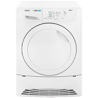 Zanussi Lindo300 ZDC8202P 8Kg Condenser Tumble Dryer - White - B Rated