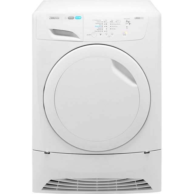 Zanussi Lindo300 ZDC8202PZ 8Kg Condenser Tumble Dryer - White - B Rated - ZDC8202PZ_WH - 1