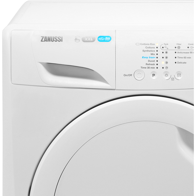 Zanussi Lindo300 ZDC8202PZ 8Kg Condenser Tumble Dryer - White - B Rated - ZDC8202PZ_WH - 2