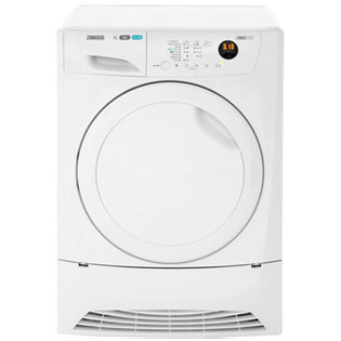 Zanussi Lindo1000 ZDH8333PZ 8Kg Heat Pump Tumble Dryer - White - A+ Rated - ZDH8333PZ_WH - 1