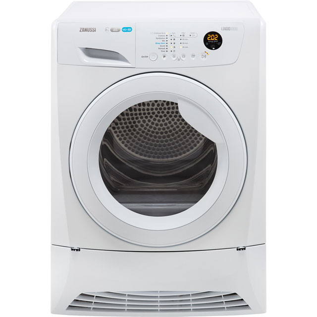 Zanussi ZDH8903W 8Kg Heat Pump Tumble Dryer - White - A+ Rated - ZDH8903W_WH - 1