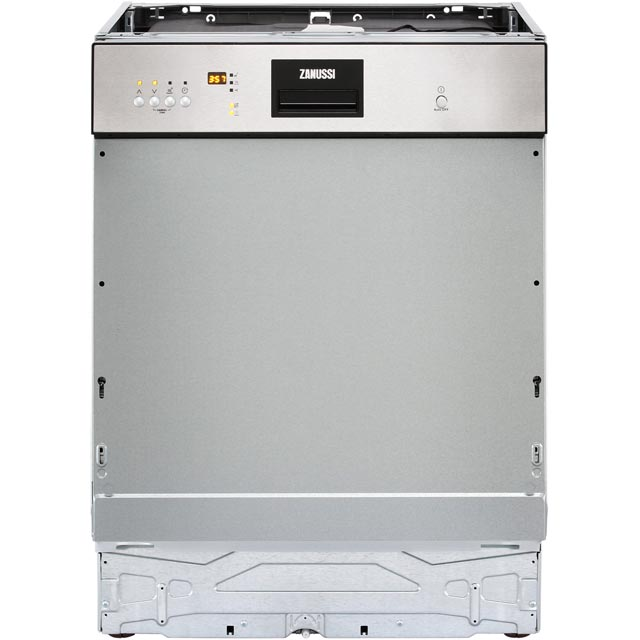 Zanussi ZDI26022XA Semi Integrated Standard Dishwasher - Stainless Steel Control Panel - A++ Rated - ZDI26022XA_SS - 1