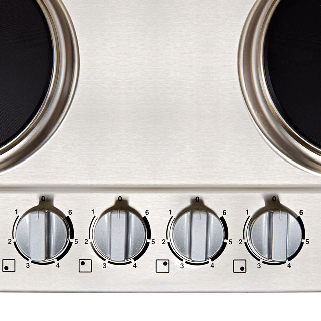 Zanussi ZEE6942FXS Built In Solid Plate Hob - Stainless Steel - ZEE6942FXS_SS - 3