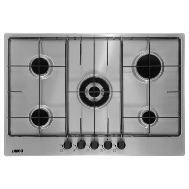 Product image for Zanussi ZGG75524XA 74cm Gas Hob - Stainless Steel