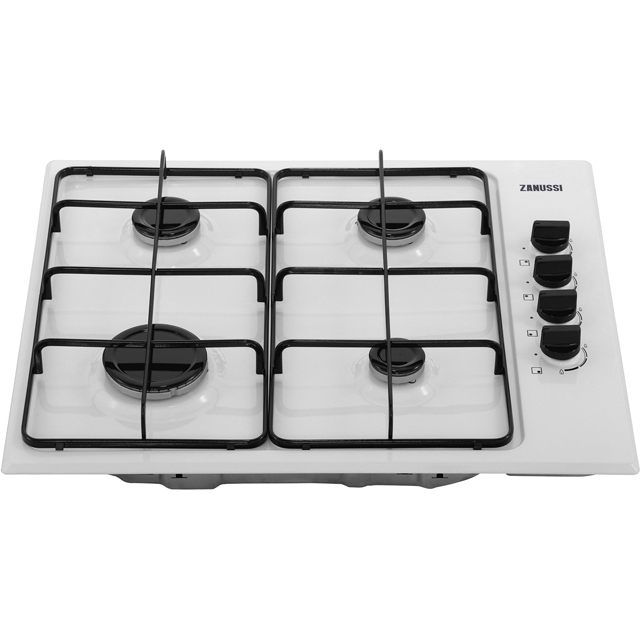 Zanussi ZGH62414WA Built In Gas Hob - White - ZGH62414WA_WH - 4