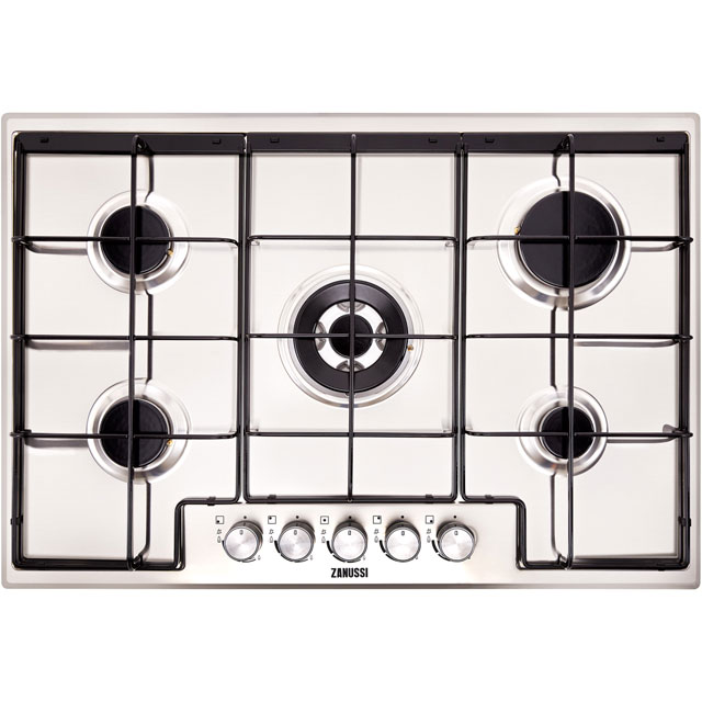 Zanussi ZGH75524XX 74cm Gas Hob - Stainless Steel - ZGH75524XX_SS - 1