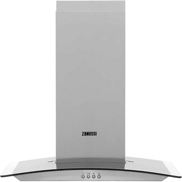 Zanussi 60 cm Chimney Cooker Hood - Stainless Steel - D Rated