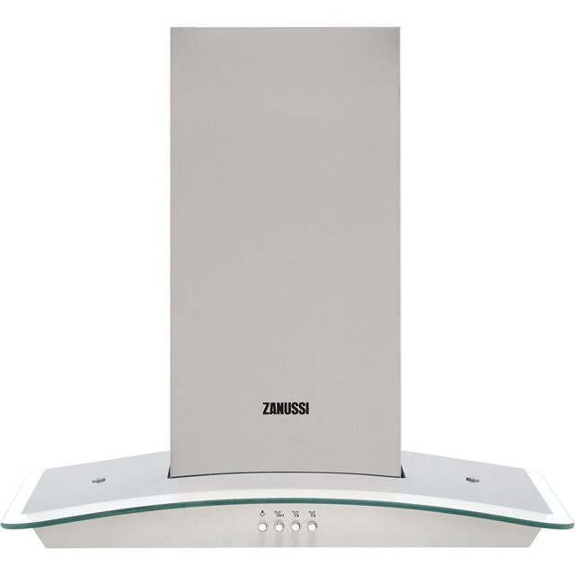 Zanussi ZHC62352X 60 cm Chimney Cooker Hood - Stainless Steel - C Rated - ZHC62352X_SS - 1