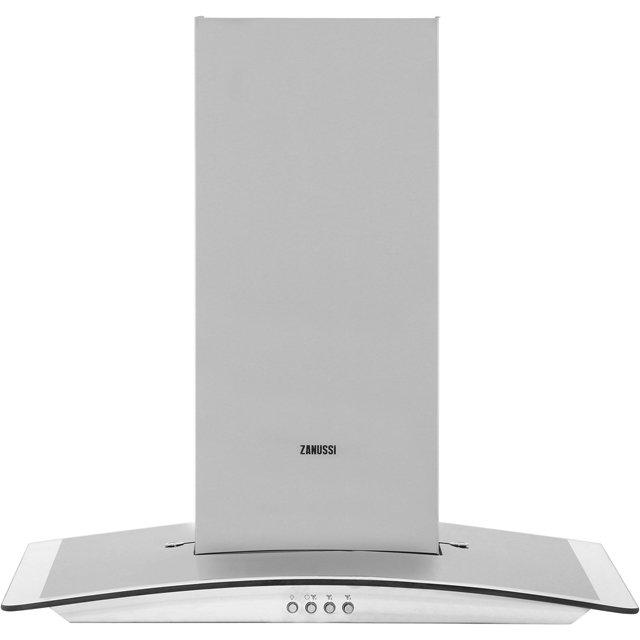 Zanussi 60 cm Chimney Cooker Hood - Stainless Steel - C Rated
