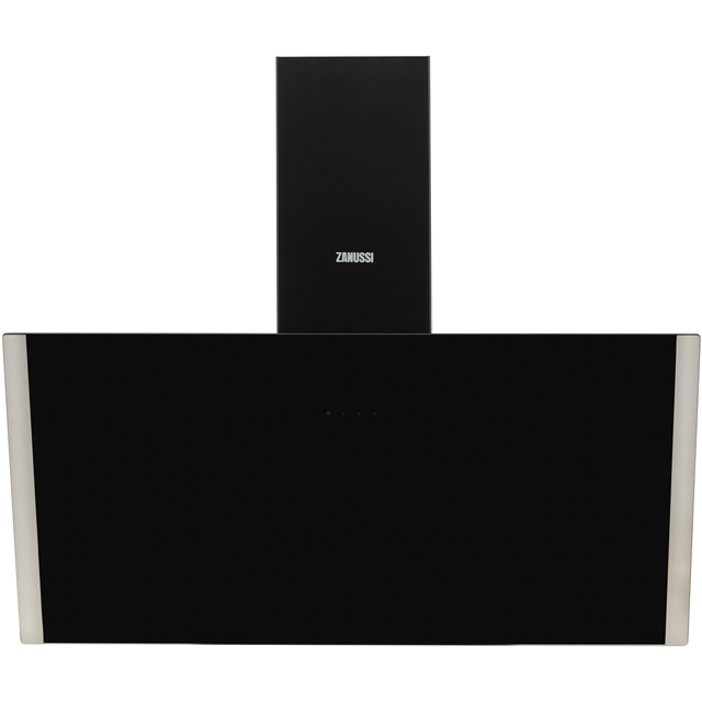 Zanussi ZHV94750BA 90 cm Chimney Cooker Hood - Black Glass - ZHV94750BA_BKG - 3