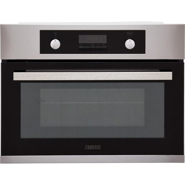 Zanussi ZKK47902XK Built In Compact Electric Single Oven with Microwave Function - Stainless Steel - ZKK47902XK_SS - 1