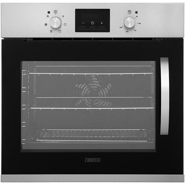 Zanussi ZOA35675XK Built In Electric Single Oven - Stainless Steel - A Rated - ZOA35675XK_SS - 1