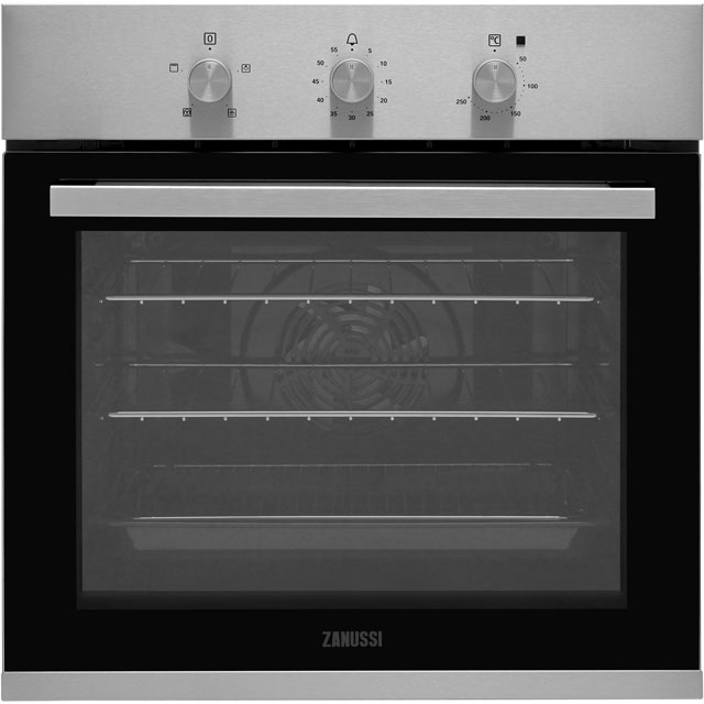 Zanussi ZOB31471XK Built In Electric Single Oven - Stainless Steel - A Rated - ZOB31471XK_SS - 1