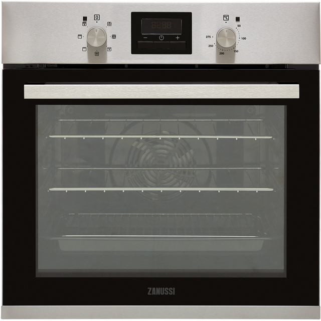 Zanussi ZOB35471XK Built In Electric Single Oven - Stainless Steel - A Rated - ZOB35471XK_SS - 1