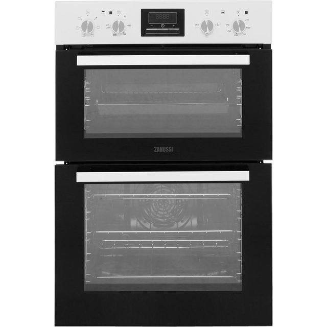 Zanussi ZOD35661WK Built In Double Oven - White - A/A Rated - ZOD35661WK_WH - 1