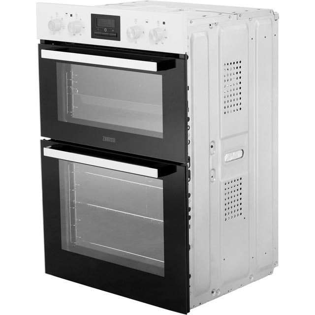 Zanussi ZOD35661WK Built In Double Oven - White - ZOD35661WK_WH - 3