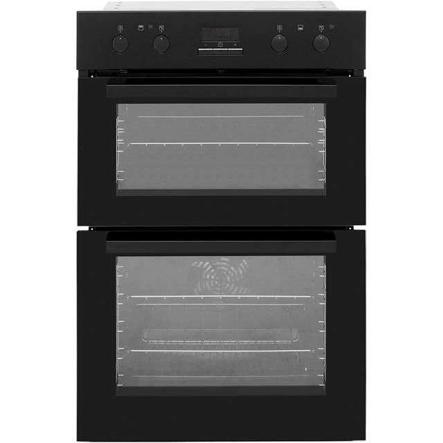 Zanussi ZOD35802BK Built In Double Oven - Black - A/A Rated