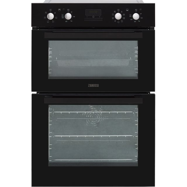 Zanussi ZOD35802BK Built In Double Oven - Black - A/A Rated - ZOD35802BK_BK - 1