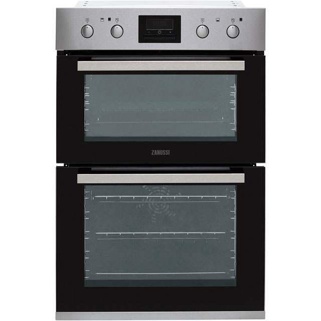 Zanussi ZOD35802XK Built In Double Oven - Stainless Steel - A/A Rated - ZOD35802XK_SS - 1
