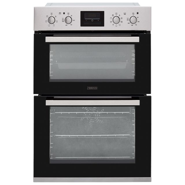 Zanussi ZOD35802XK Built In Electric Double Oven - Stainless Steel - ZOD35802XK_SS - 1