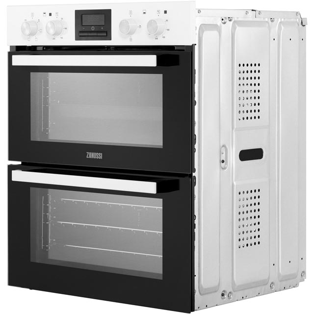Zanussi ZOF35601WK Built Under Double Oven - White - ZOF35601WK_WH - 3