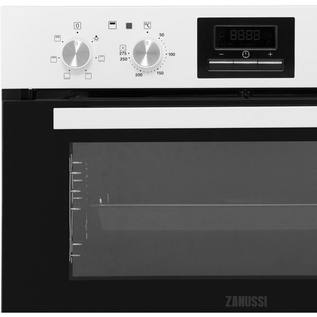 Zanussi ZOF35601WK Built Under Double Oven - White - ZOF35601WK_WH - 5
