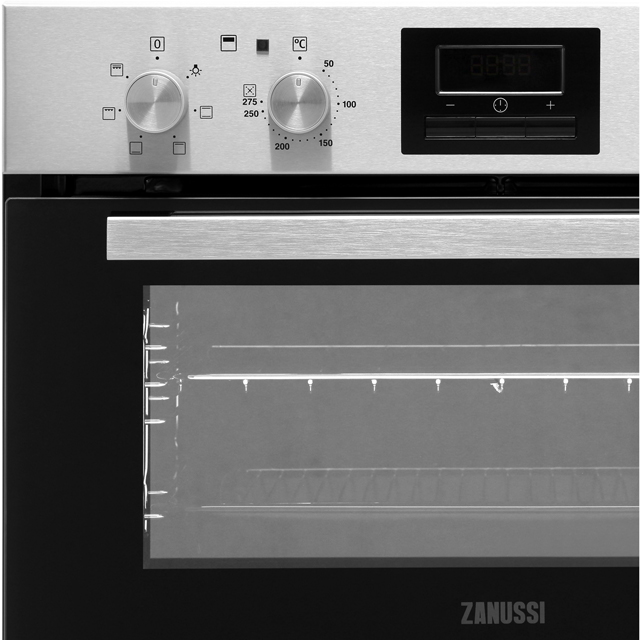 Zanussi ZOF35601XK Built Under Double Oven - Stainless Steel - ZOF35601XK_SS - 3