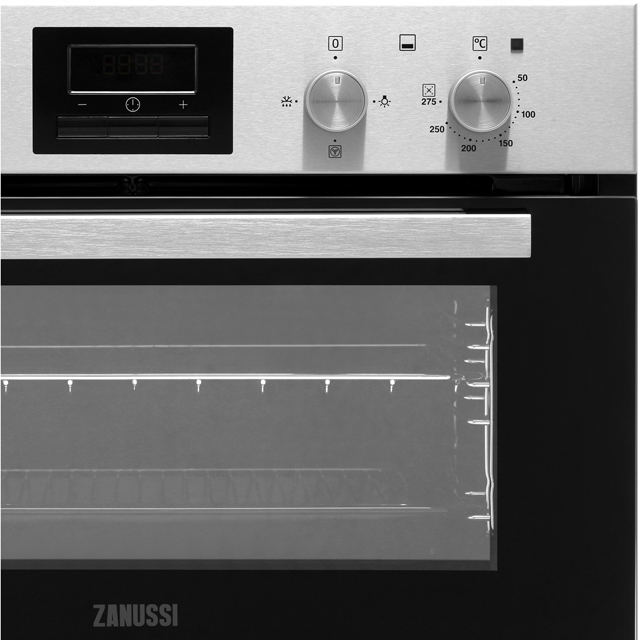 Zanussi ZOF35601XK Built Under Double Oven - Stainless Steel - ZOF35601XK_SS - 4