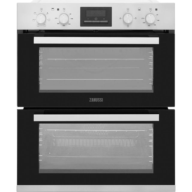 Zanussi ZOF35661XK Built Under Double Oven - Stainless Steel - ZOF35661XK_SS - 1