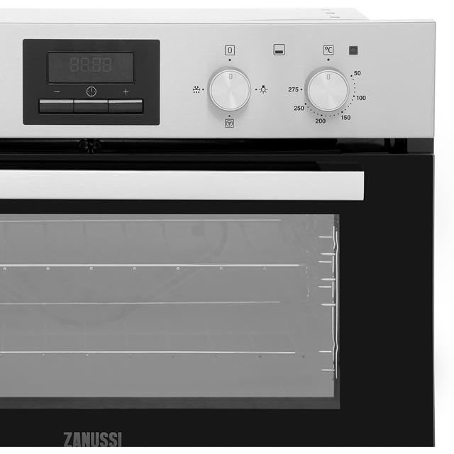 Zanussi ZOF35661XK Built Under Double Oven - Stainless Steel - ZOF35661XK_SS - 4